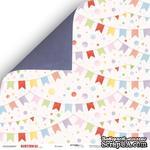 Лист двусторонней бумаги от Scrapmir - Birthday Party - Флажки из коллекции, 30x30 см, 10шт - ScrapUA.com