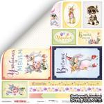 Лист двусторонней скрапбумаги от Scrapmir - Карточки из коллекции Birthday Party, 30x30 см - ScrapUA.com