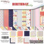 Набор двусторонней бумаги от Scrapmir - Birthday Party, 20х20см, 10шт - ScrapUA.com