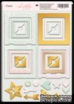 Рамки из чипборда с фольгированием (золото) для скрапбукинга от Scrapmir - Little Bunny, 30 шт. - ScrapUA.com