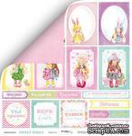 Лист двусторонней скрапбумаги от Scrapmir - Карточки из коллекции Sweet Girls, 30x30 см - ScrapUA.com