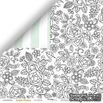 """Лист двусторонней бумаги от Scrapmir - """"Настроение"""" из коллекции Simple Flowers, 30x30 см - ScrapUA.com"""