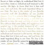 """Лист односторонней бумаги с золотым тиснением от Scrapmir - """"Про любовь"""" из коллекции Simple Flowers, 30x30 см - ScrapUA.com"""