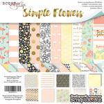 Набор двусторонней бумаги от Scrapmir - Simple Flowers, 30х30 см.,10 шт - ScrapUA.com