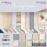 Набор двусторонней бумаги от Scrapmir - Shabby Winter, 20х20см, 10 шт. - ScrapUA.com