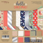 Набор двусторонней бумаги от Scrapmir - Hello Christmas, 30х30см, 10 шт. - ScrapUA.com