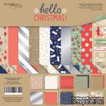 Набор двусторонней бумаги от Scrapmir - Hello Christmas, 20х20см, 10 шт. - ScrapUA.com