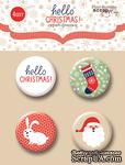 Набор скрап-фишек для скрапбукинга от Scrapmir - Hello Christmas, 4 шт. - ScrapUA.com