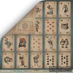 Лист двусторонней бумаги от Scrapmir - Игральные карты из коллекции Time to Dream, 30x30 см - ScrapUA.com