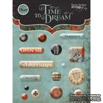 Набор эпоксидных наклеек от Scrapmir - Time to Dream, 16 шт. - ScrapUA.com