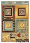 Рамки из чипборда с фольгированием (золото) для скрапбукинга от Scrapmir - Time to Dream, 30 шт. - ScrapUA.com