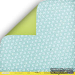 """Лист двусторонней бумаги от Scrapmir - """"Небо"""" из коллекции Let's Travel, 30x30 см - ScrapUA.com"""