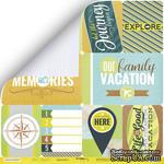 """Лист двусторонней бумаги от Scrapmir - """"Карточки 1 (eng)"""" из коллекции Let's Travel, 30x30 см - ScrapUA.com"""