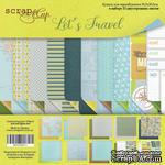 Набор двусторонней бумаги от Scrapmir - Let's Travel (ENG), 30х30см, 10 листов - ScrapUA.com