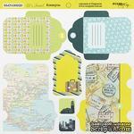 Лист двусторонней бумаги от Scrapmir - Конверты - Let's Travel, 20х20см - ScrapUA.com