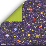 Лист двусторонней бумаги от Scrapmir - Вселенная - Ticket to the Moon, 30x30см  - ScrapUA.com