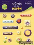 Набор эпоксидных наклеек от Scrapmir - Ticket to the Moon, 16 шт. - ScrapUA.com