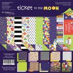 Набор двусторонней бумаги от Scrapmir  - Ticket to the Moon (ENG), 20х20см, 10шт - ScrapUA.com