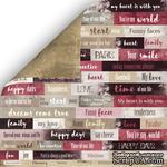 Лист двусторонней бумаги от Scrapmir - Надписи - Charming (Очарование), ENG, 30x30 см - ScrapUA.com