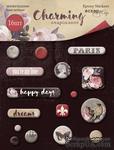 Набор эпоксидных наклеек от Scrapmir - Charming (Очарование), 16шт.  - ScrapUA.com