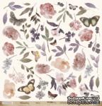 """Лист односторонней бумаги для вырезания от Scrapmir - """"Цветы"""" из коллекции Charming (Очарование), 30x30см - ScrapUA.com"""