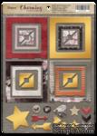 Рамки из чипборда с фольгированием (золото) для скрапбукинга от Scrapmir - Charming (Очарование), 30 шт. - ScrapUA.com