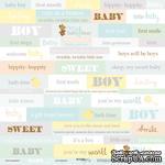 Лист односторонней бумаги от Scrapmir - Надписи (ENG) - Smile Baby, 30x30 см - ScrapUA.com
