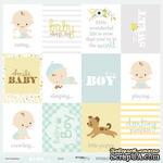 Лист односторонней бумаги 30x30 от Scrapmir Cards - Smile Baby, ENG - ScrapUA.com