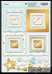 Рамки из чипборда с фольгированием (золото) для скрапбукинга от Scrapmir - Smile Baby, 30 шт. - ScrapUA.com