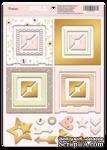 Рамки из чипборда с фольгированием (золото) для скрапбукинга от Scrapmir - Baby Doll, 30 шт. - ScrapUA.com