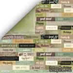 Лист двусторонней бумаги Scrapmir - Надписи на английском языке -  Cozy Forest, 30х30см - ScrapUA.com