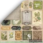Лист односторонней бумаги для скрапбукинга  от Scrapmir - Карточки (ENG) - Cozy Forest, 30х30см - ScrapUA.com