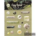 Набор эпоксидных наклеек от Scrapmir - Cozy Forest, 16 шт. - ScrapUA.com