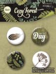 Набор скрап-фишек для скрапбукинга от Scrapmir - Cozy Forest, 4 шт. - ScrapUA.com