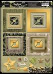 Рамки из чипборда с фольгированием (золото) для скрапбукинга от Scrapmir - Cozy Forest, 30 шт. - ScrapUA.com