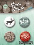 Набор скрап-фишек для скрапбукинга от Scrapmir - Nordic Spirits, 4 шт. - ScrapUA.com