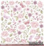 """Лист односторонней бумаги для вырезания от Scrapmir - Цветы - коллекция """"Unicorns"""", 30x30 см - ScrapUA.com"""