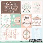Лист односторонней бумаги от Scrapmir - Cards из коллекции Happy Days, 30x30, 10шт - ScrapUA.com