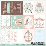 Лист односторонней бумаги от Scrapmir - Карточки RU из коллекции Happy Days,30x30см, 10шт - ScrapUA.com
