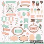 Лист односторонней бумаги для вырезания от Scrapmir - Декор из коллекции Happy Days, 30x30см, 10шт. - ScrapUA.com