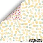 Лист двусторонней бумаги от Scrapmir Ананасовая роща из коллекции Summer, 30x30 см - ScrapUA.com