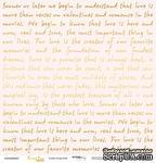 """Лист односторонней бумаги с золотым тиснением от Scrapmir - """"Golden Script Pink"""" из коллекции Every Day, 30x30 см - ScrapUA.com"""