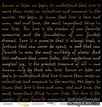 """Лист односторонней бумаги с золотым тиснением от Scrapmir - """"Golden Script Black"""" из коллекции Every Day, 30x30 см - ScrapUA.com"""
