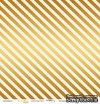 """Лист односторонней бумаги с золотым тиснением от Scrapmir - """"Golden Stripes Mint"""" из коллекции Every Day, 30x30 см - ScrapUA.com"""