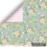 Лист двусторонней бумаги от Scrapmir - Цветочный орнамент из коллекции Pur Pur, 30x30 см - ScrapUA.com