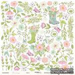 Лист односторонней бумаги для вырезания от Scrapmir - Цветы, 30x30 см - ScrapUA.com