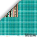 Лист двусторонней бумаги от Scrapmir - Зелёный плед из коллекции Funny Friends, 30x30 см - ScrapUA.com