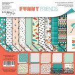 Набор двусторонней бумаги от Scrapmir - Funny Friends, 30х30 см - ScrapUA.com