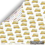 Лист двусторонней бумаги от Scrapmir - Школьный автобус из коллекции School Days, 30x30 см - ScrapUA.com