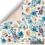 Лист двусторонней бумаги от Scrapmir - Розы - Blue & Blush, 30x30 см - ScrapUA.com